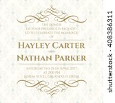 graphic design page. wedding... | Shutterstock .eps vector #408386311
