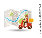 food delivery design  | Shutterstock .eps vector #408387361