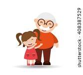 happy grandparents  design  | Shutterstock .eps vector #408387529