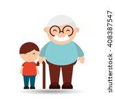 happy grandparents  design  | Shutterstock .eps vector #408387547