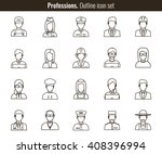 professions vector flat icons.... | Shutterstock .eps vector #408396994