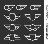winged badges and emblems in... | Shutterstock .eps vector #408398941