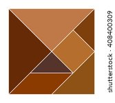 Brown Tangram Square....