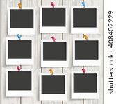 nine instant frames with... | Shutterstock .eps vector #408402229