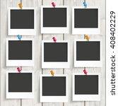 nine instant frames with... | Shutterstock .eps vector #408402229