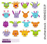 large vector set of drawings of ... | Shutterstock .eps vector #408402319