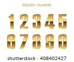 vector golden numbers. set of... | Shutterstock .eps vector #408402427