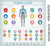 medical infographics. lungs... | Shutterstock .eps vector #408405055