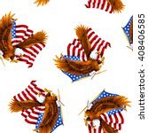 eagle and stars and stripes... | Shutterstock . vector #408406585