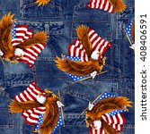 Eagle And Stars And Stripes...