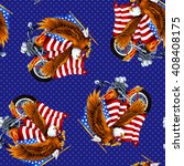 eagle and stars and stripes... | Shutterstock . vector #408408175
