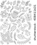 vector drawing in black and... | Shutterstock .eps vector #408411631