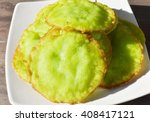 deep fried rice flour pandan...   Shutterstock . vector #408417121