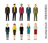 icons of businessmen and... | Shutterstock .eps vector #408430801