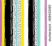 brushstrokes striped seamless... | Shutterstock .eps vector #408432085