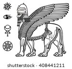 image of the assyrian mythical... | Shutterstock .eps vector #408441211