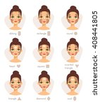 Set Of Different Woman Face...
