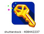 the golden key to the apartment ... | Shutterstock .eps vector #408442237