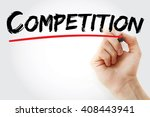 Small photo of Hand writing Competition with marker, business concept background