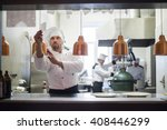 time to open the kitchen for...   Shutterstock . vector #408446299