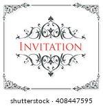 wedding invitation card    Shutterstock .eps vector #408447595