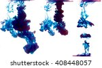 some samples of blue ink in... | Shutterstock . vector #408448057
