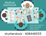 medical team doctors at desktop....   Shutterstock .eps vector #408448555