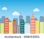 minimal flat design modern... | Shutterstock . vector #408453001