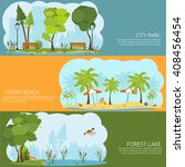 horizontal banners on the theme ... | Shutterstock .eps vector #408456454