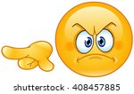 angry emoticon pointing out or... | Shutterstock .eps vector #408457885