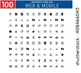 100 universal icon set for web... | Shutterstock .eps vector #408466045