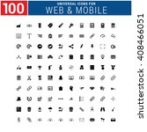100 universal icon set for web... | Shutterstock .eps vector #408466051