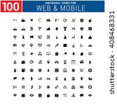 100 universal icon set for web... | Shutterstock .eps vector #408468331