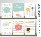 light pink blue collection for... | Shutterstock .eps vector #408469435