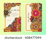 vintage card template. wedding... | Shutterstock .eps vector #408477094