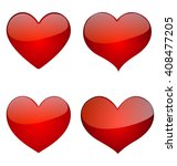 set of glossy hearts  icon... | Shutterstock .eps vector #408477205