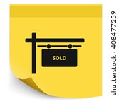 sold sign. | Shutterstock . vector #408477259