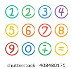 numbers set.colorful icons with ... | Shutterstock .eps vector #408480175