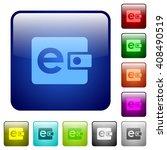 set of color e wallet glass web ...