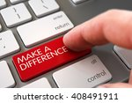 make a difference concept  ... | Shutterstock . vector #408491911