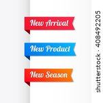 new arrival  new product   new... | Shutterstock .eps vector #408492205
