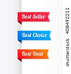 best seller  best choice   best ... | Shutterstock .eps vector #408492211