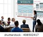 website www web browser... | Shutterstock . vector #408502417