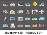 set of 24 transport isolated... | Shutterstock .eps vector #408502639