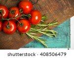 branch of fresh cherry ripe... | Shutterstock . vector #408506479