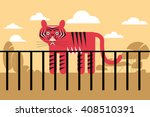 vector illustration of the zoo... | Shutterstock .eps vector #408510391