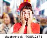 crazy dealer sad expression   Shutterstock . vector #408512671