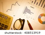 stock market information and... | Shutterstock . vector #408513919
