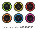 vector set of colored speaker | Shutterstock .eps vector #408514555