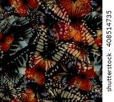 Seamless pattern from butterflies, vector illustration, clip-art